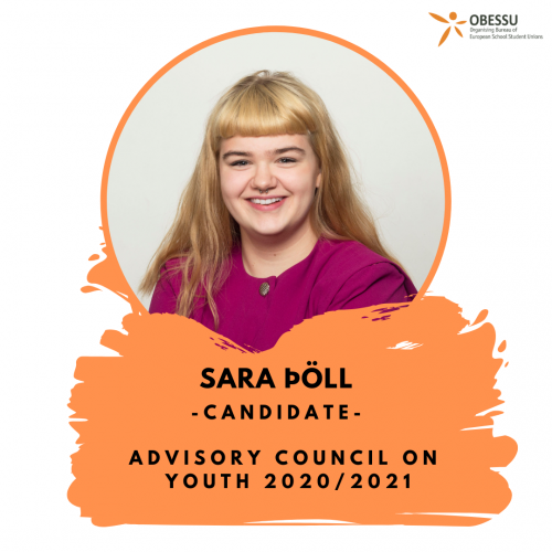 Sara Þöll: Our Candidate to the Advisory Council on Youth!